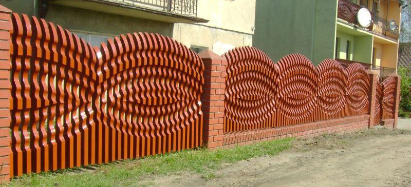 Объемные заборы из дерева фото